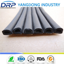 self-adhesive EPDM seal strip for door and window, D shape fireproof rubber seal strip