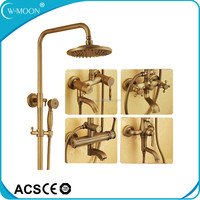 Luxury Antique Brass Shower Head Set Copper Rain Shower with 5 Year Guarantee