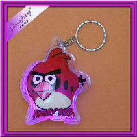 lovely birds shaped glittering keychains