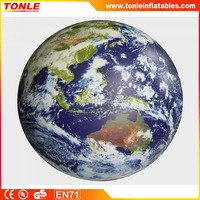 Inflatable astronauts view earth globe/Toughest inflatable earth beach ball on earth
