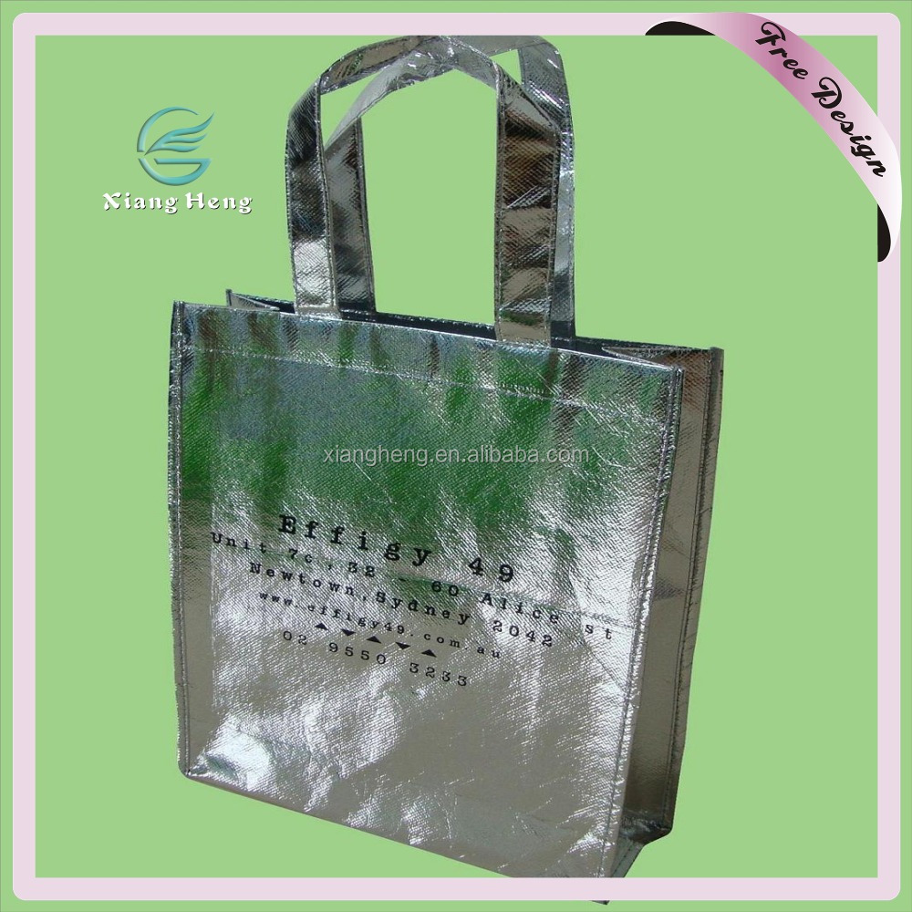 High Quality Polypropylene Metallic Laminated Non Woven Tote Bag