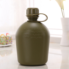 Army green color BPA free plastic canteen water bottle