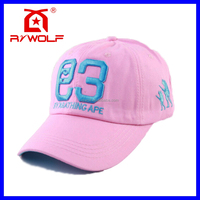 RZ WOLF fashionable fuchsia 3d embroidery flex fit baseball hats custom