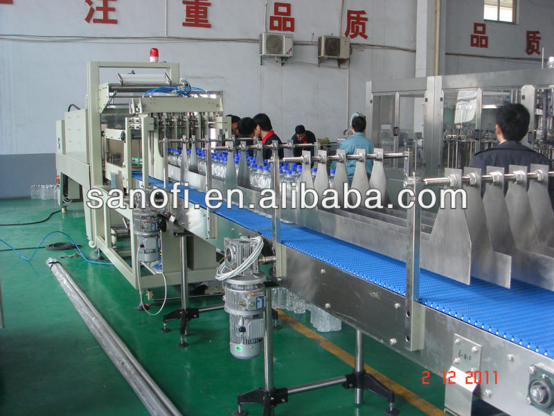Full Automatic PE Film pet bottle shrink wrapping machine