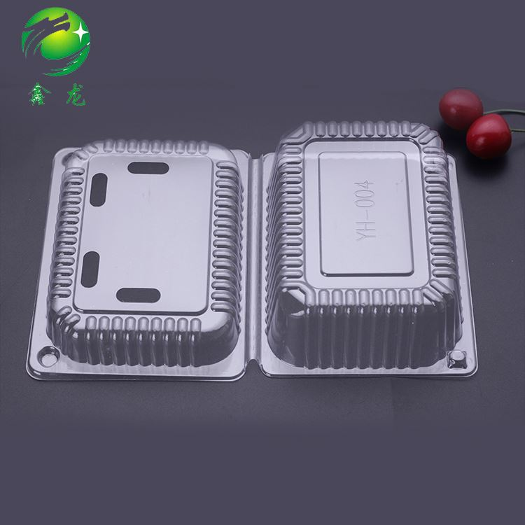 Transparent Disposable Food Grade Plastic Fruit Packaging Box Tray