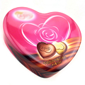 food grade heart candy metal box wedding favor tin box