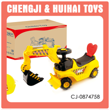 Plastic ride on stroller kids ride on toy excavator
