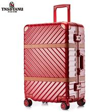 Factory direct hot sale fashion ABS travel trolley luggage bag plane luggage