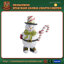 OEM custom christmas snowman ornaments newest product cute resin figure