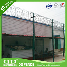 high security galvanised powder coated anti climb outdoor retractable metal fencing