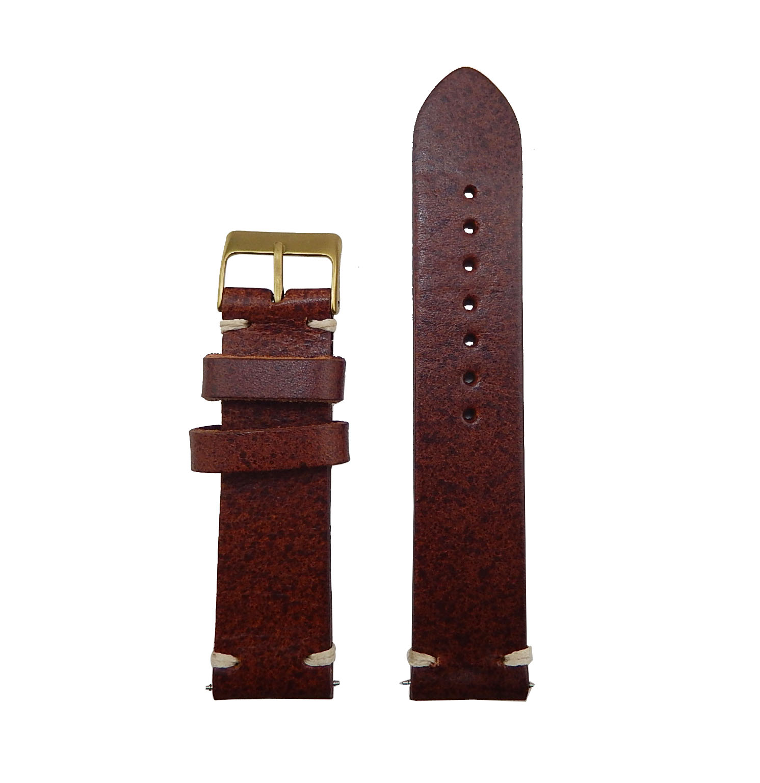 Handmade leather watch strap, making video, vegetable leather watch strap 18mm ~26mm