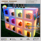 led glow grid cube display / acrylic candy display case