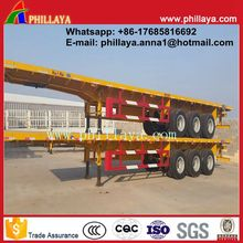 Mutifunctional drop deck 3-axle rail side trailer with container lock