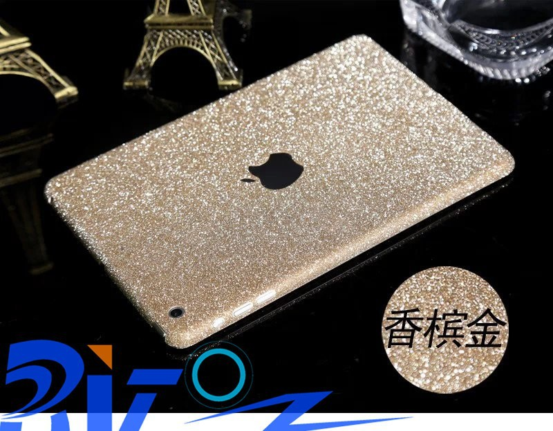 2015 Newest Bling Colorful Glitter shiny foil Sticker protective color film for Ipad2/3/4/Mini/Air/Air2