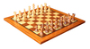 Solid marble style chess board wooden chess board set