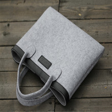 Eco-friendly approved multifunctional 3.5MM Wool felt Material Laptop case/ bag for MacBook