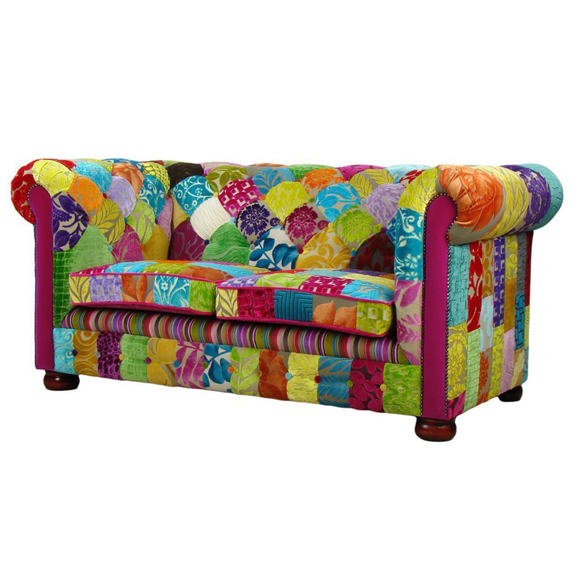 Sofa+Chaise+Chair+Ottoman Full Set Home Furniture Colorful Sofa Set Foshan City Original Patchwork Persian Furniture