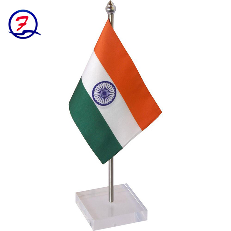 Factory sale cheap 100% woven polyester mini desktop all country table flag