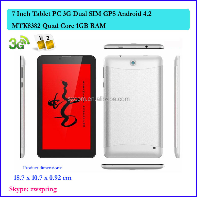 7 Inch Android Tablet 3G Dual SIM MTK8382 Quad Core Vatop 2014 New Tablet PC