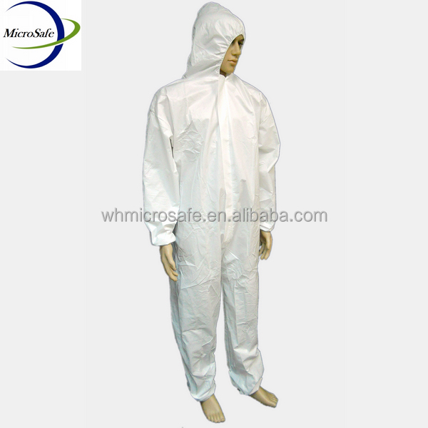 Protective Workwear Disposable Polypropylene Coverall