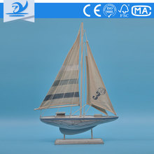 ZY74237 High Quality wooden decoration model sailboat