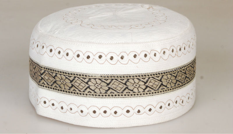 Muslim Prayer Cap ACG0054 - Brown Lace