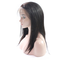 14inches Chinese Virgin Hair Natural Color Medium Density Full Lace Wig