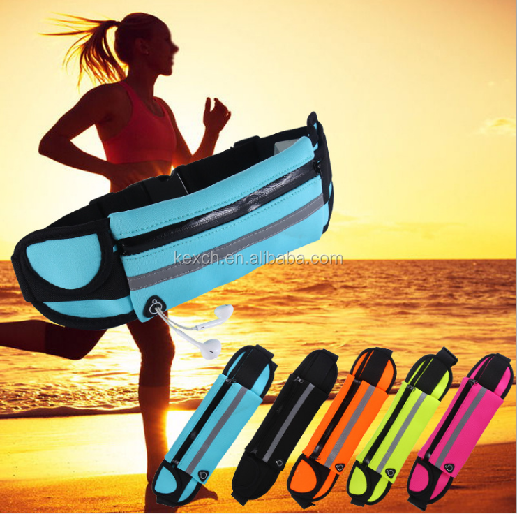 Outdoor Neoprene Reflective Sport Running Belt Waist Pack Bag