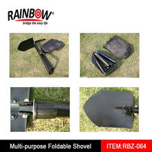 Portable Camping Survival Folding Shovel Pick With Carry Pouch