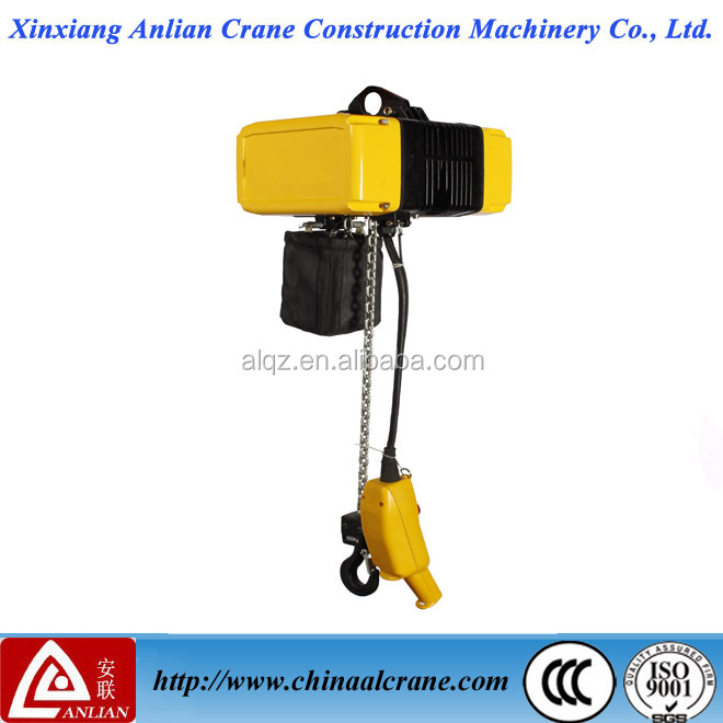1 ton 2 ton 3 ton 5 ton alloy chain hoist electric with alloy chain