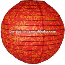 2012 best Eco-friendly steel wire frame patterned hanging paper lantern of China