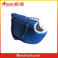 Denim fabric pet carrier dog bag