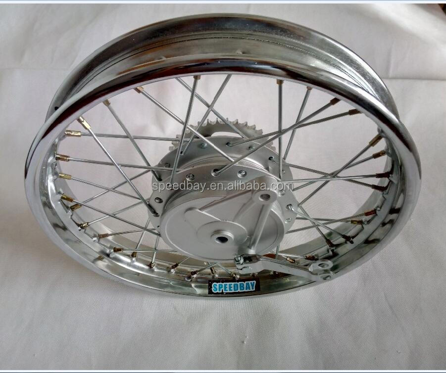 CG125/WY125/CBT125 2.5x17 2.15x17 2.15x18 Rear Motorcycle Wheel Rim With Sprocket Drum Brake
