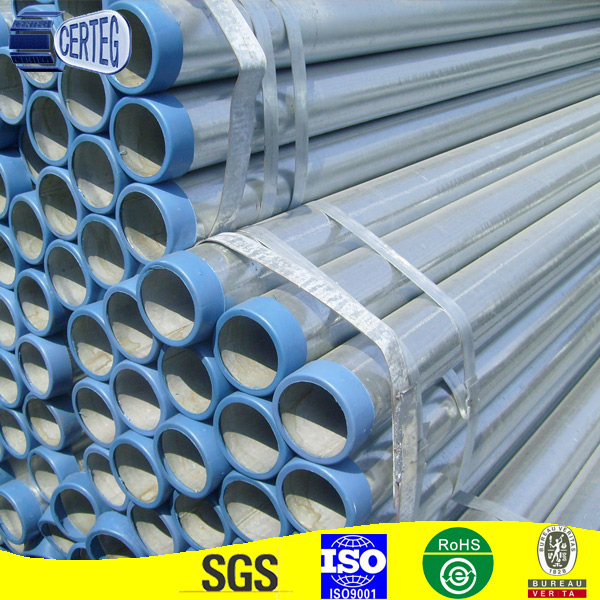 Hot dipped zinc coated galvanized steel pipe in chemical industry from CHINA