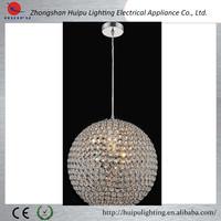 Christmas crystal big ball hanging pendant light