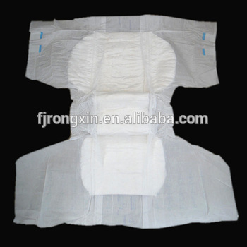 2015 high quality PE film super absorption adult diaper