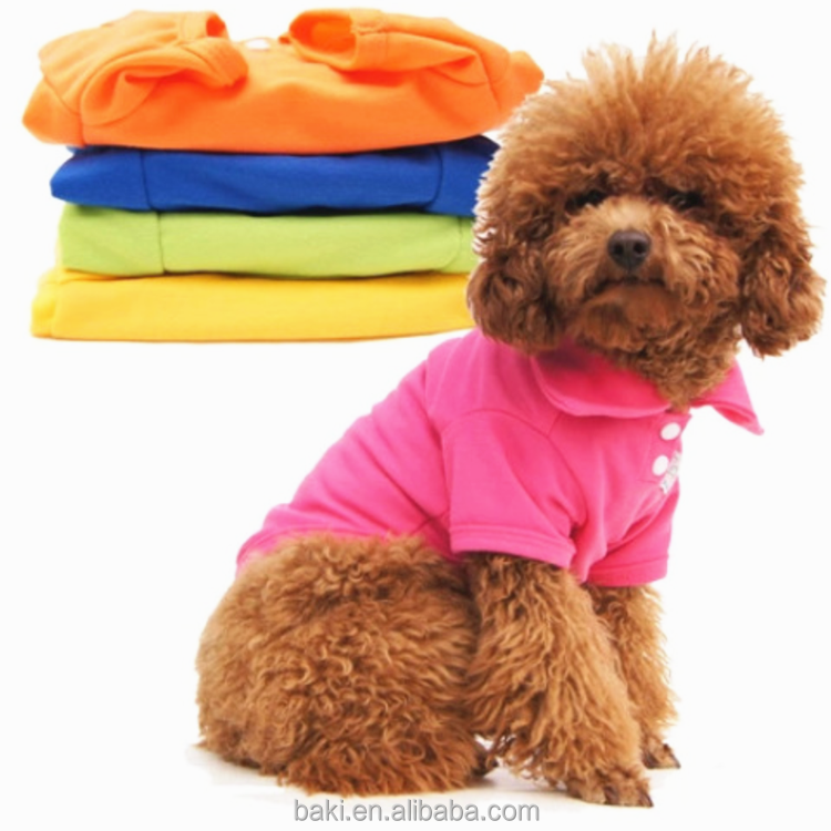 Small Dog Puppy Cool Summer T-shirt Pet Polo Blank Dog Clothes
