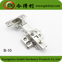 Cabinet slow closing stainless steel hinge with decorative cap and screws