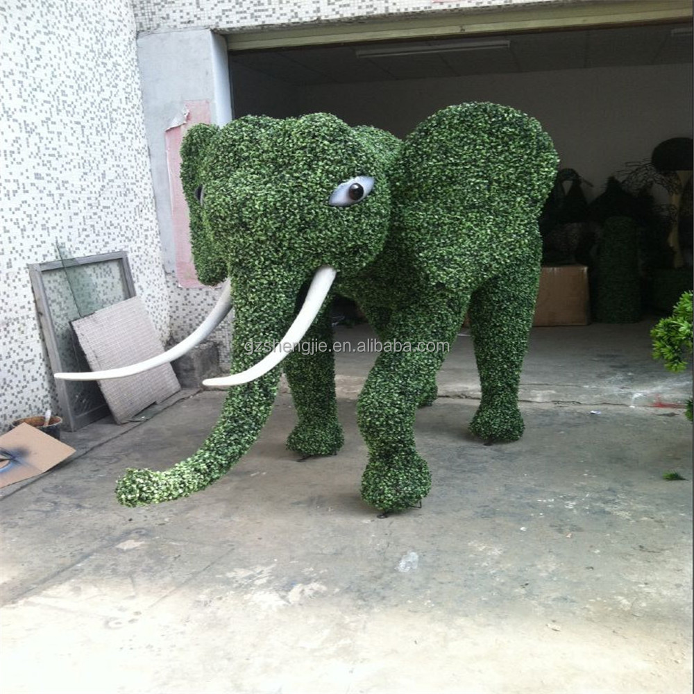LXY072403 manufacturer artificial grass animal topiary ornamental artificial elephant lawn animals