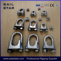 Rigging Hardware Galvanized DIN741 Malleable Steel Wire Rope Clip