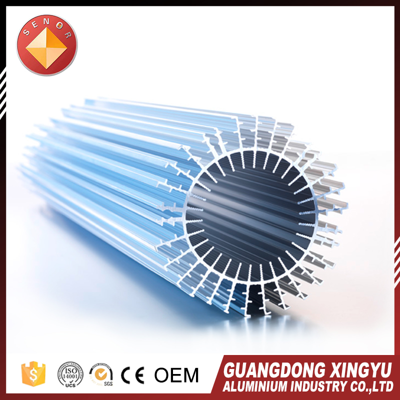 2017 good price custom led extruded round aluminum heatsink