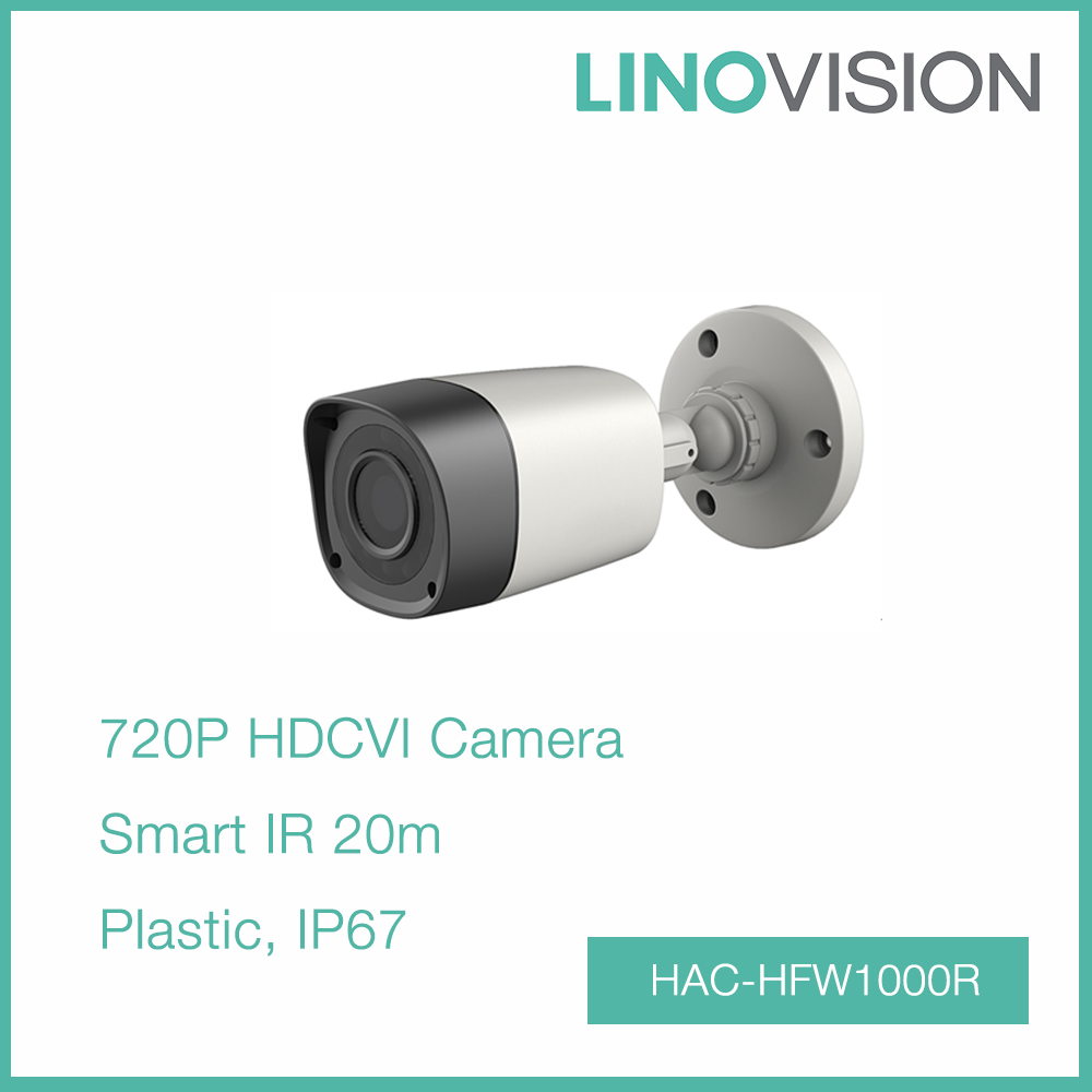 High Speed Water-proof 1MP CMOS 720P HDCVI Bullet Camera with 20m Smart IR