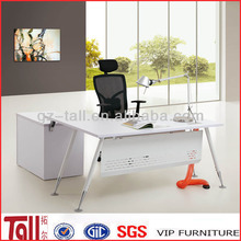 melamine office table steel legs execitive desk TL-E03 melamine office table