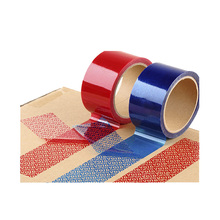 Custom Blue tamper evident security sealing tape, warranty void sealing tape, anti-counterfeit tape