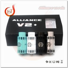 Alibaba www x vaporizer new alliance v2 rda clone with 2 Speical Design post 4 colors alliance v2 rda ecig clone high tech