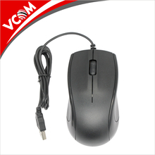 VCOM high quality logo printing 3d optical wired mouse for pc