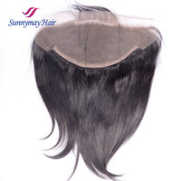 Unprocessed Brazilian Virgin Hair Lace Frontal 13 By 6 Ear To Ear Full Lace Frontal Closures In Stock 13*6