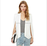 Z51510B New Women White Champagne Black Cloak Style Jacket Unique Design Blazer for wholesale