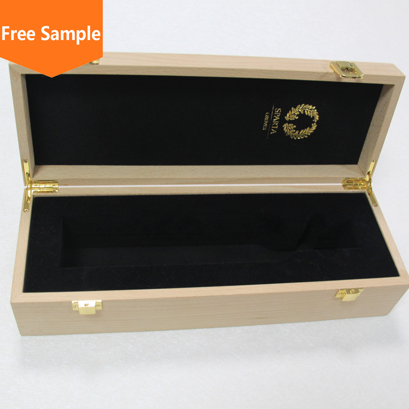 Custom design luxury wholesale wooden gift boxes for wine glasses