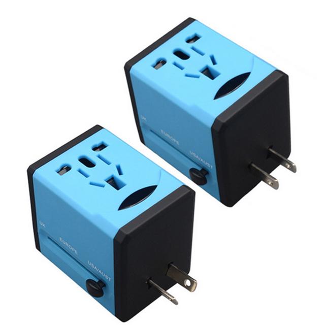 Universel 2 USB Adaptateur de Chargeur de Voyage avec EU UK US AU Bouchons - ANKUX Tech Co., Ltd